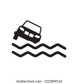 Flood risk icon. Trendy Flood risk logo concept on white background from Insurance collection. Suitable for use on web apps, mobile apps and print media.