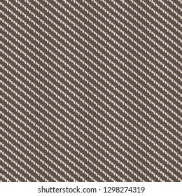 Floor carpet texture. Sturdy twill fabric detail. Brown background with oblique jagged stripes. Vector illustration.