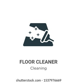 Floor cleaner vector icon on white background. Flat vector floor cleaner icon symbol sign from modern cleaning collection for mobile concept and web apps design.