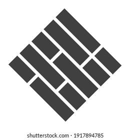 Floor icon paver block logo Concept creative symbol minimalist abstract  vector illustration