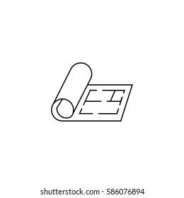 floor icon,plan icon - vector illustration.