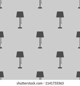 floor lamp vector icon seamless pattern