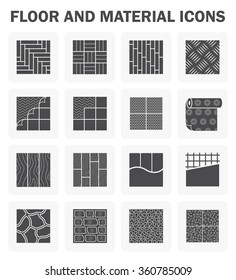 Floor and material vector icons sets.