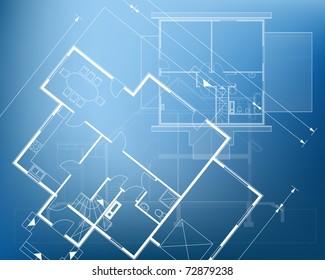 floor plan blueprint. vector illustration