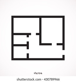 floor plan icon vector