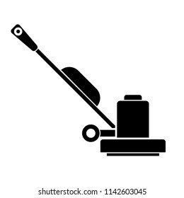 Floor Sander silhouette icon. Clipart image isolated on white background