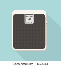 Floor scales in flat design. Vector illustration.