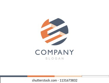 Floor structure in building logo, Cogwheel, gear and engineering logo