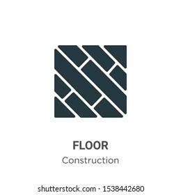 Floor vector icon on white background. Flat vector floor icon symbol sign from modern construction collection for mobile concept and web apps design.