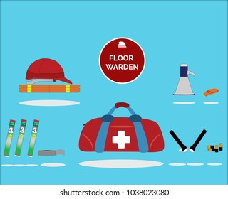 Floor warden kit. A must have kit to ensure emergency safety.