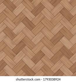 Floor wood parquet. Flooring wooden seamless pattern. Design zigzag laminate. Parquet rectangular herringbone. Floor tile parquetry plank. Hardwood brown tiles. Rectangles slabs wooden background