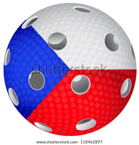 Floorball Ball Flag Czech Stock Vector Royalty Free 118462897