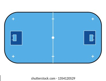 Floorball court color for your tactics. Sport background.