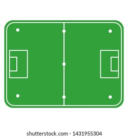 floorball court icon. flat style. floorball field with exact proportions. sport vector illustration