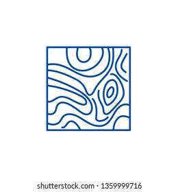Floorboard line icon concept. Floorboard flat  vector symbol, sign, outline illustration.