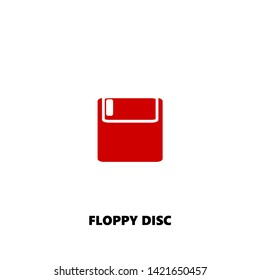 floppy disc icon. floppy disc vector design. sign design. red color