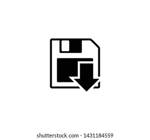 Floppy disc vector isolated flat illustration. Floppy disc icon