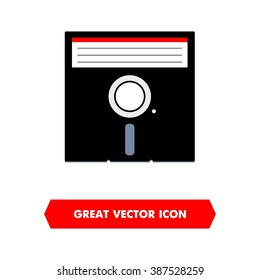 Floppy Disk Flat Vector Icon For Various Designs Software And Saving Illustration Without Gradients