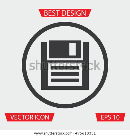 Floppy Disk Icon Stock Vector (Royalty Free) 495618331 - Shutterstock