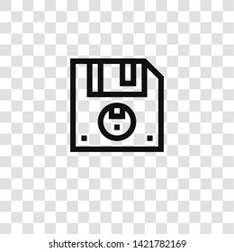 floppy disk icon from  collection for mobile concept and web apps icon. Transparent outline, thin line floppy disk icon for website design and mobile, app development