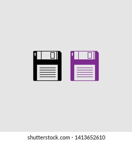 floppy disk icon color and black