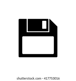 Floppy Disk Icon Diskette Save Silhouette Symbol Flat Design Vector Illustration