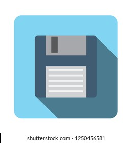 floppy disk icon. save sign. flat design vector