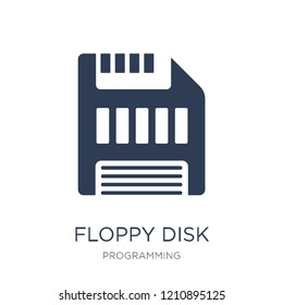 Floppy disk icon. Trendy flat vector Floppy disk icon on white background from Programming collection, vector illustration can be use for web and mobile, eps10