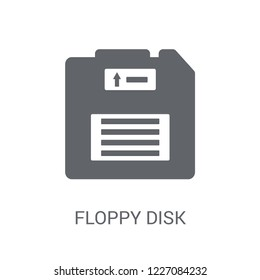 Floppy disk icon. Trendy Floppy disk logo concept on white background from Programming collection. Suitable for use on web apps, mobile apps and print media.