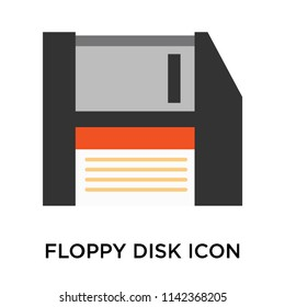 Floppy disk icon vector isolated on white background for your web and mobile app design, Floppy disk logo concept