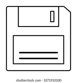 floppy disk retro icon