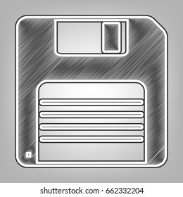 127e9647d Floppy Disk Sign Vector Pencil Sketch Stock Vector (Royalty Free ...
