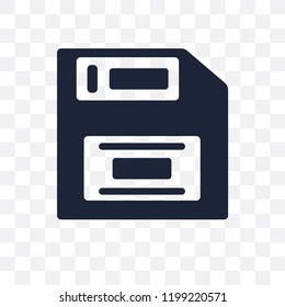 Floppy disk transparent icon. Floppy disk symbol design from Programming collection. Simple element vector illustration on transparent background.