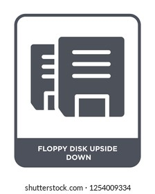 floppy disk upside down icon vector on white background, floppy disk upside down trendy filled icons from Hardware collection