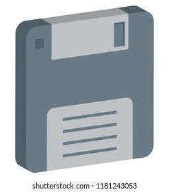Floppy, Floppy Drive, Floppy Disk Isolated and Vector Isometric Style Icon