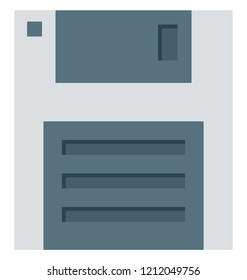 floppy, floppy drive, Isolated Vector icons that can be easily modified or edit
