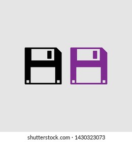 floppy icon color and black