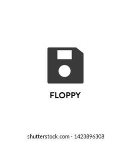 floppy icon vector. floppy vector graphic illustration