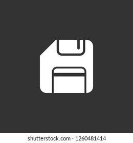 floppy icon vector. floppy sign on black background. floppy icon for web and app