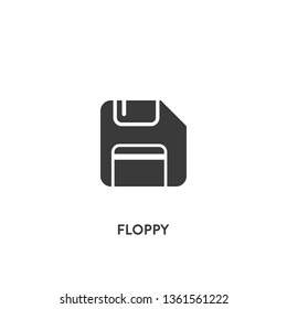 floppy icon vector. floppy sign on white background. floppy icon for web and app