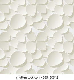 Floral 3d Seamless Vector Pattern Background with rose petals white.