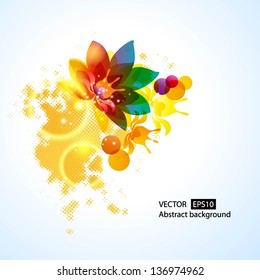 Floral abstract background. Vector illustration for your  presentations. EPS10.