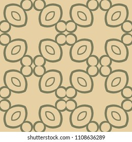 Floral abstract seamless ornamental vintage pattern. Vector illustration