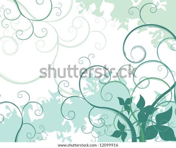 floral abstract vector composition