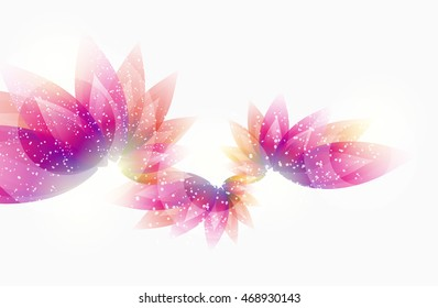 Floral abstract vector eps10 illustration for background with colorful leaves