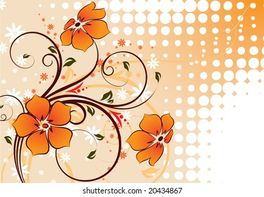 Floral abstraction for design.