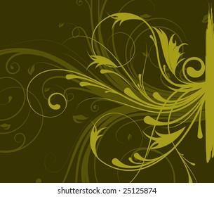 Floral abstraction. Vector illustration for design.