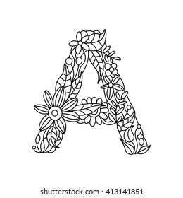 Zentangle Letters Images, Stock Photos & Vectors | Shutterstock