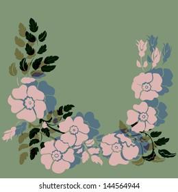 Floral Arrangement.Vector Illustration
