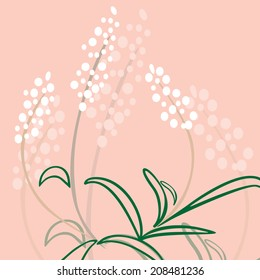 floral background, abstract fantasy on the theme of nature